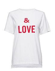 bella saint valentin t-shirt coton - WHITE