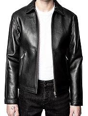 Zadig & Voltaire - LUK BONDED LEATHER JACKET - læderjakker - black - 0