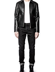 Zadig & Voltaire - LUK BONDED LEATHER JACKET - læderjakker - black - 7