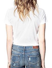 Zadig & Voltaire - ZOE BLASON GLITTER COTTON T-SHIRT - t-shirts - white - 4
