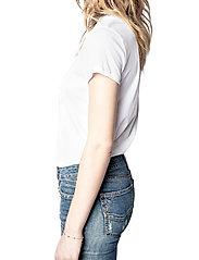 Zadig & Voltaire - ZOE BLASON GLITTER COTTON T-SHIRT - t-shirts - white - 5