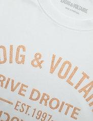 Zadig & Voltaire - ZOE BLASON GLITTER COTTON T-SHIRT - t-shirts - white - 3