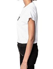 Zadig & Voltaire - WOOP TOUT VA BIEN COTTON T-SHIRT FLOCK - t-shirts - white - 3
