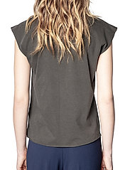 Zadig & Voltaire - WENY COMPO SKULL STRASS COTTON TANK TOP - t-shirts - carbon - 4
