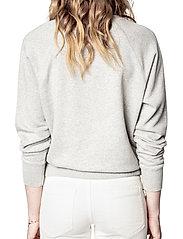 Zadig & Voltaire - UPPER ZV ADDRESS ORGANIC COTTON PRINTED SWEATSHIRT - sweatshirts & hættetrøjer - melange grey - 4