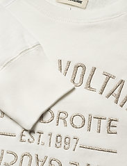 Zadig & Voltaire - UPPER BLASON BRODE TONAL EMBROIDERED COTTON SWEATS - sweatshirts & hættetrøjer - ivory - 3