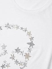 Zadig & Voltaire - SKINNY STRASS SKULL STARS CO/MODAL T-SHIRT - t-shirts - white - 3