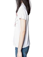 Zadig & Voltaire - ZOE BLASON STRASS T-SHIRT - t-shirts - white - 5