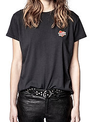 Zadig & Voltaire - ZOE SMALL HEART ICONICS T-SHIRT - t-shirts - black - 0