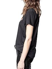 Zadig & Voltaire - ZOE SMALL HEART ICONICS T-SHIRT - t-shirts - black - 5