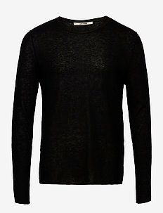 TEISS CP PULL ML CACHEMIRE PLUME - perusneuleet - black