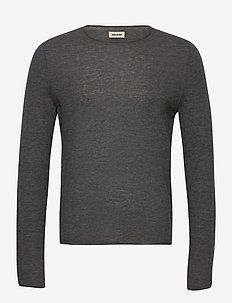 TEISS CP PULL ML CACHEMIRE PLUME - basic strik - grey