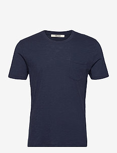 STOCKHOLM COTTON SLUB - basic t-shirts - navy blue