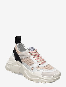 FUTURE SMOOTH CALFSKIN SUEDE MESH - chunky sneakers - white