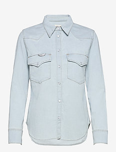 THELMA DENIM SHIRT - jeansskjortor - light blue