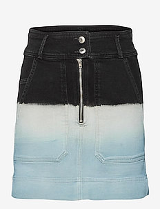 JIMA DENIM DEEP DYE SKIRT - jeanskjolar - bleu de france