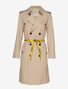mia trench coat - SAND