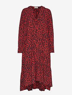 rikota print leo dress - PASSION