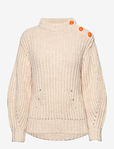 marlon awa alpaca sweater - CHALK