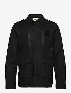 KIDO HEAVY COTTON MULTICUSTO BLOUSON - vindjakker - black