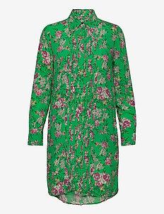 ROUGI PRINT ROSES ROBE - skjortekjoler - green