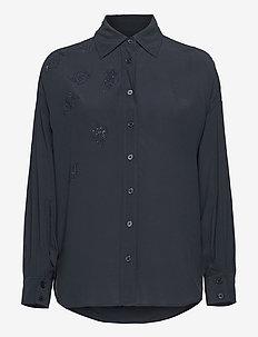 TAMARA STRASS SHIRT - pitkähihaiset paidat - navy blue