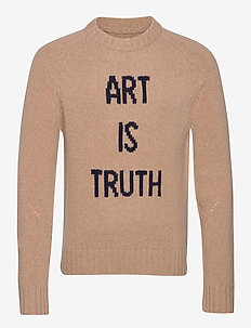 PHIL MW ART IS TRUTH PULL INTARSIA DEVANT - rund hals - beige