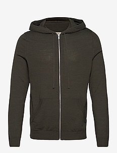 CLASH M PATCH FLASH HOODIE ZIP INTARSIA COUDES - hættetrøjer - beige