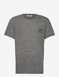 TED CV BLASON TEE-SHIRT PRINT FLOCK DEVANT - basic t-shirts - grey