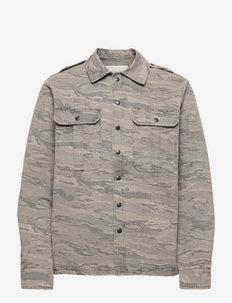 BERTIE MILI CAMOU OUTERWEAR - jeansjackor - grey