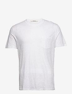 STOCKHOLM COTON FLAMME PRINT T-SHIRT - t-shirts - white