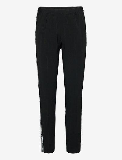 PAULA BAND PANT PERMAMNENT - casual bukser - black