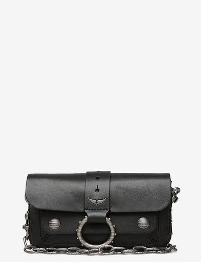 KATE WALLET SMOOTH CALFSKIN - crossbody bags - black