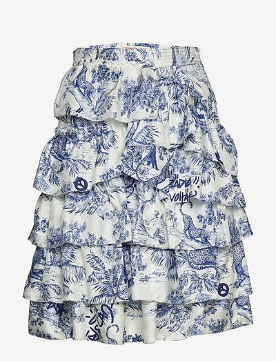 JOKER PRINT JUPE COURTE - korte nederdele - blue