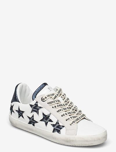 ZADIG USED STARS MONOGRAM - lave sneakers - blanc acier