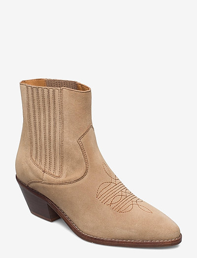 TYLER SUEDE ELASTIC - ankelstøvler med hæl - down
