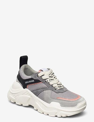 FUTURE MESH + SUEDE - chunky sneakers - gris moyen