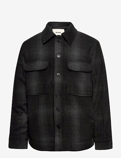 BRYANT FLANNEL CHECK OUTERWEAR - villakangastakit - black