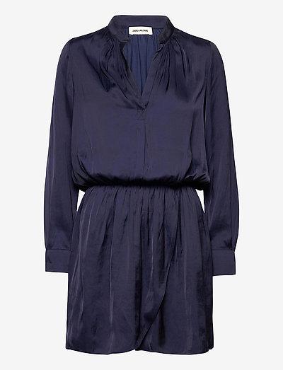 RINKA SATIN DRESS - hverdagskjoler - ink