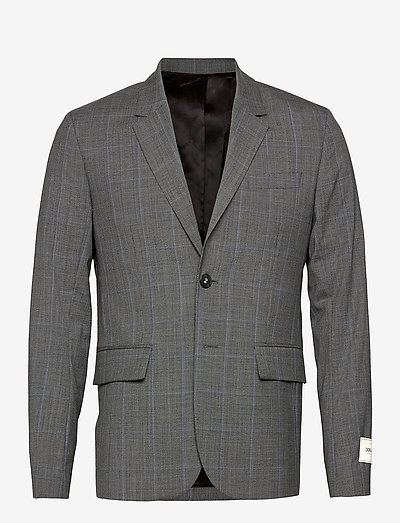 VERSION WOOL CHECK JACKET - enkeltradede blazere - carbon