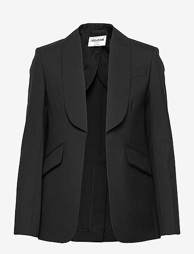 DATE WOOL ECO JACKET - oversized blazere - black
