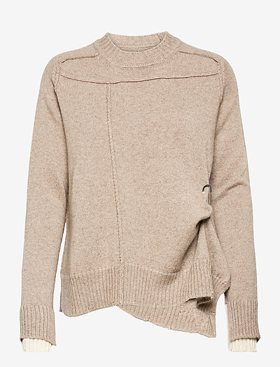 KEITH WS UNDYED PULL - trøjer - oat