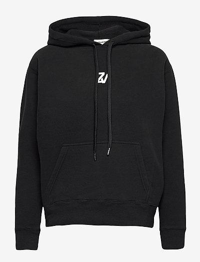 SPENCER PHOTOPRINT COTTON HOODIE - sweatshirts & hættetrøjer - black