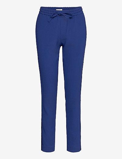 PARONO CREPE PANTALON - slim fit bukser - blue