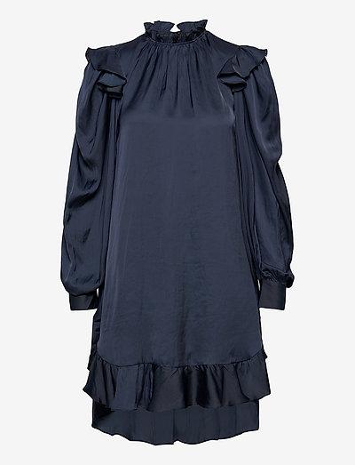RUINS SATIN DRESS - cocktailkjoler - navy blue