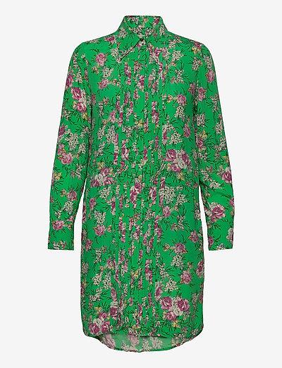 ROUGI PRINT ROSES ROBE - midi kjoler - green