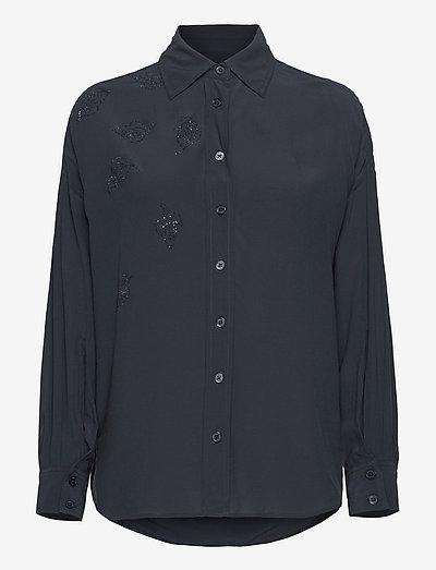 TAMARA STRASS SHIRT - langærmede skjorter - navy blue