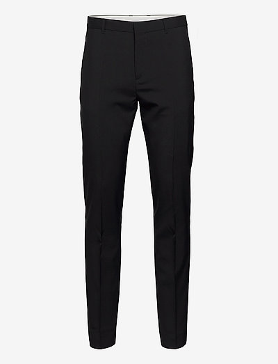 PARIS WOOL PANTS - suitbukser - black