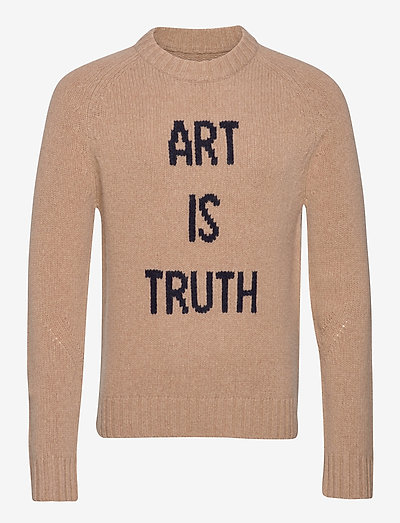 PHIL MW ART IS TRUTH PULL INTARSIA DEVANT - rund hals - beige