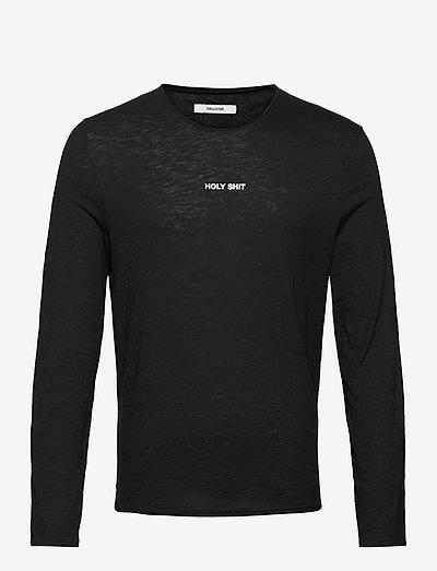 TOKI CF HOLY SHIT TSHIRT ML PRINT DEVANT - basic t-shirts - black